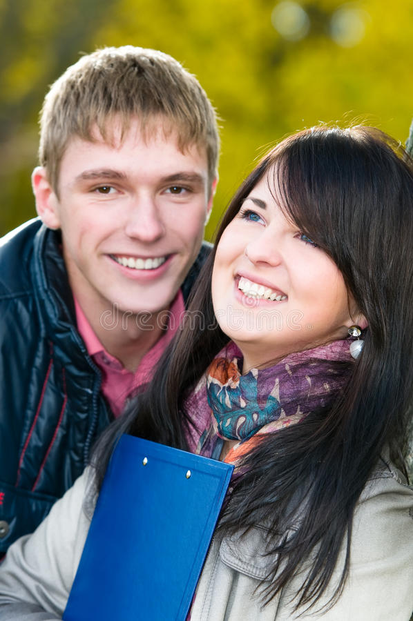 Download Portrait Of Cheerful Students Stock Photo - Image: 16755034