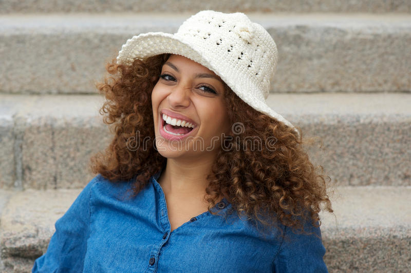 Download Portrait Of A Cheerful Young Lady Laughing Stock Photo - Image: 34391522