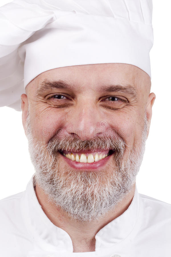 Download Portrait of a Chef stock photo. Image of head, isolated - 21486346