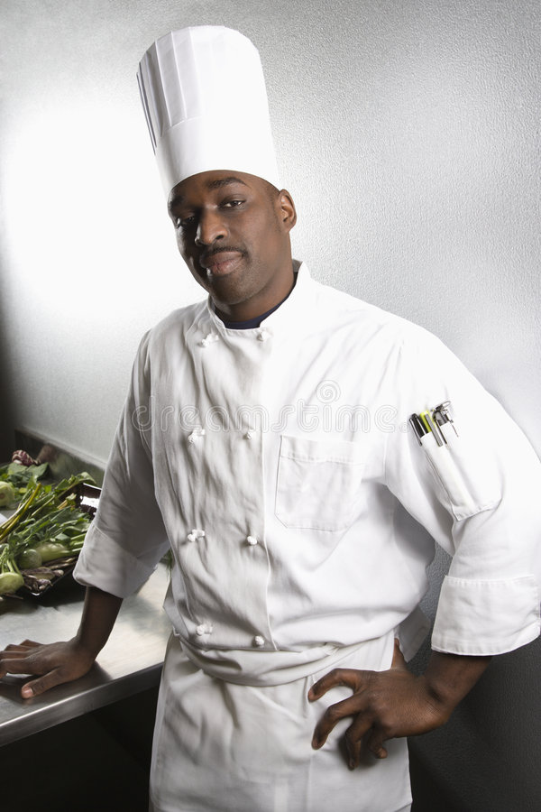 Portrait of chef. royalty free stock image