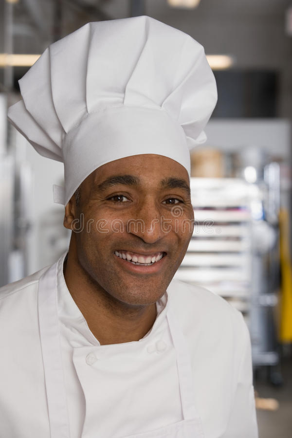 Portrait of a chef royalty free stock photos