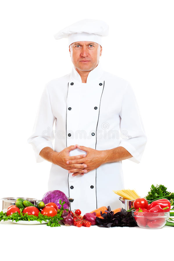 Download Portrait Of Chef With Bright Food Stock Photo - Image: 21054682