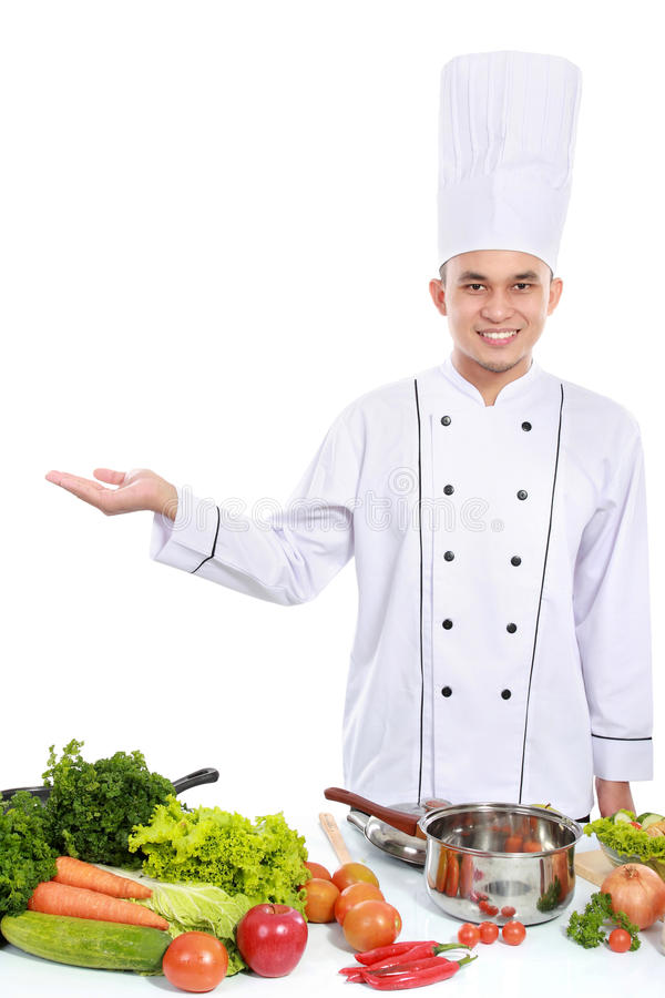 Download Portrait of chef smiling stock image. Image of profession - 29061551