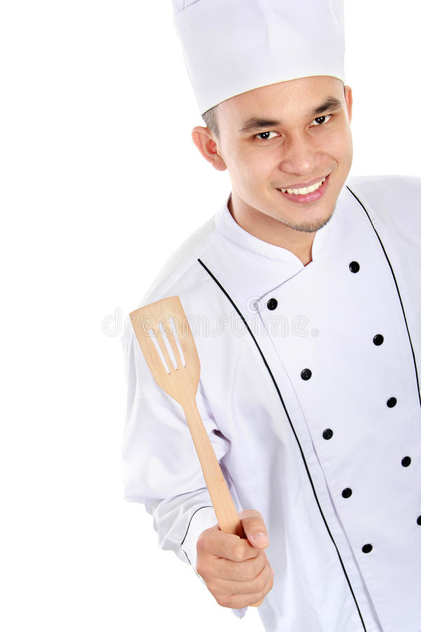 Portrait Of Chef Smiling Royalty Free Stock Photos