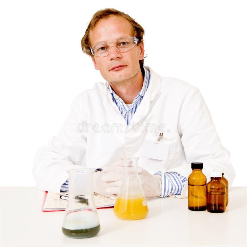 Portrait Of A Chemist Stock Images
