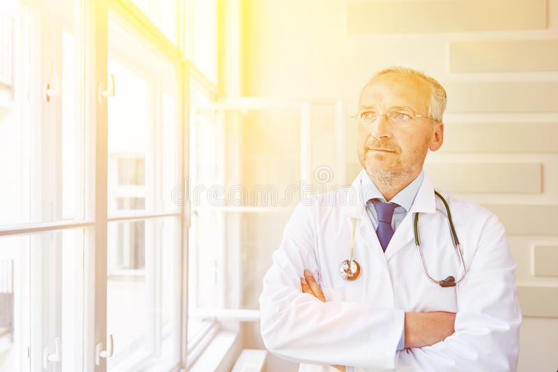 Portrait of chief physician stock photo