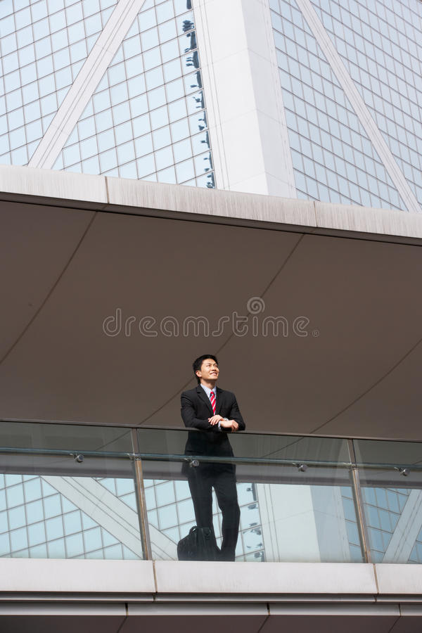 Download Portrait Of Chinese Businessman Outside Office Stock Image - Image: 26097051