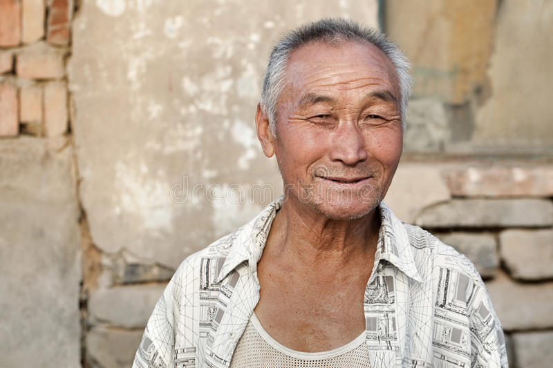 Portrait of a Chinese male elderly royalty free stock image