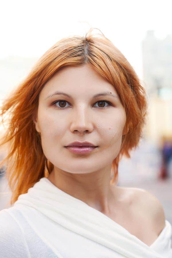 Portrait of the city girl. stock photo