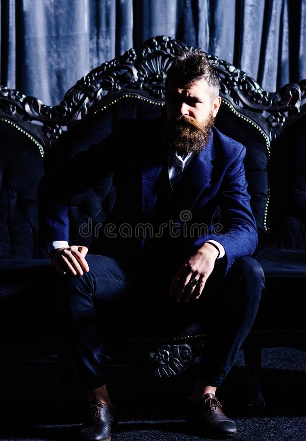 Portrait of classy elegant rich luxurious millionaire royalty free stock image