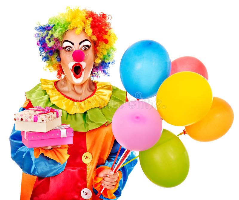 Download Portrait of clown. stock photo. Image of nose, party - 28031652