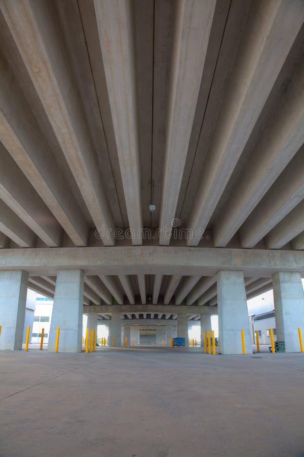 Portrait of Concrete beam bridge stock photography