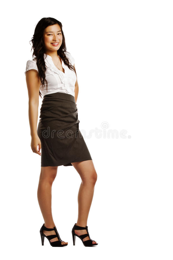 Portrait of a confident asian business woman stock photography