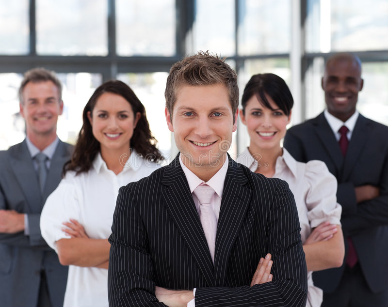 Portrait of a confident business leader royalty free stock photography