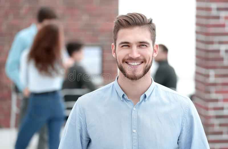 Portrait of confident businessman in office. stock photography