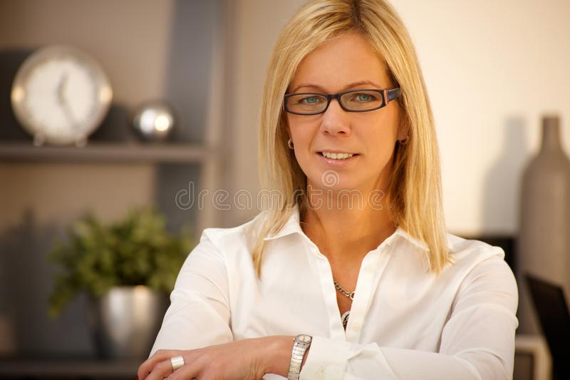 Portrait of confident businesswoman royalty free stock photo