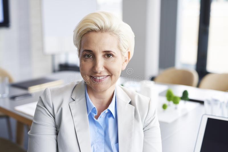 Portrait of confident businesswoman in the office royalty free stock images