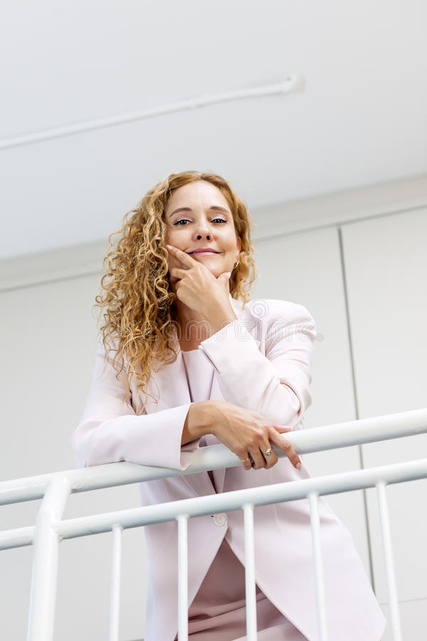 Portrait of confident businesswoman in office royalty free stock photos