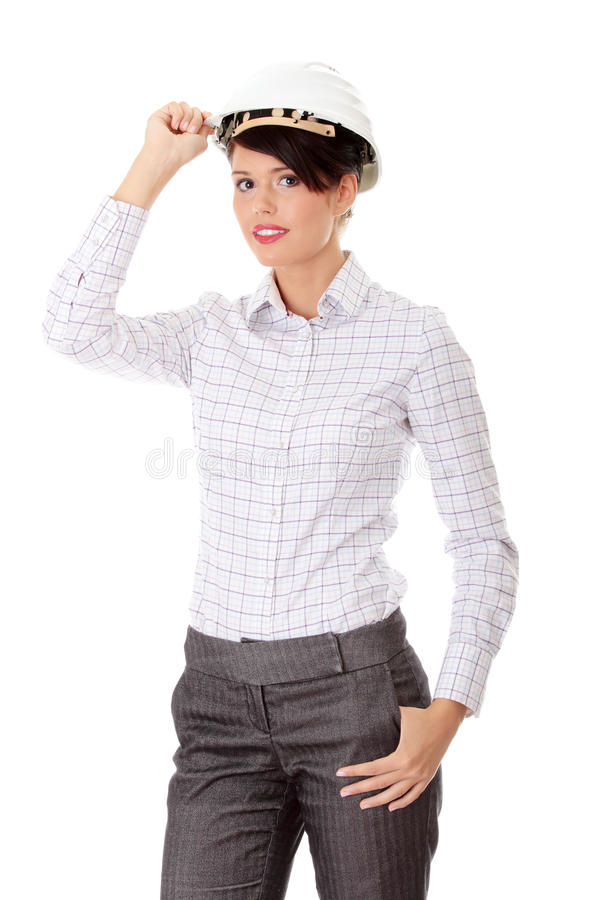 Download Portrait Of Confident Female Worker Stock Photo - Image: 15952058