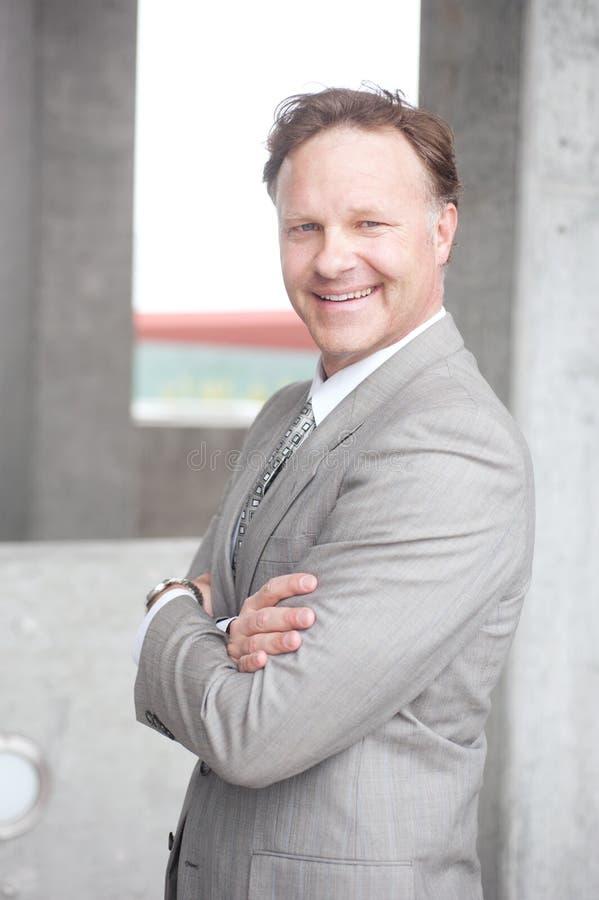 Portrait of a confident mature businessman royalty free stock images