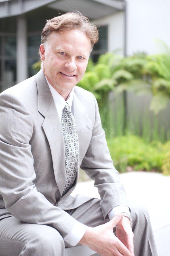 Portrait of a confident mature businessman royalty free stock photo
