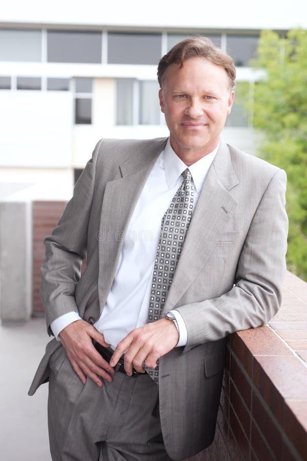Portrait of a confident mature businessman royalty free stock photos
