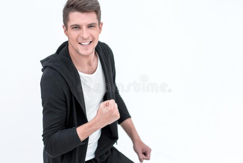 Portrait of a confident modern guy . royalty free stock images