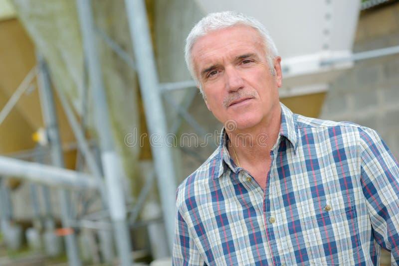 Portrait confident plant manager. Portrait of a confident plant manager stock photography