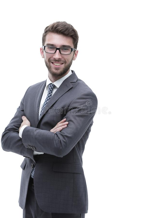 Portrait of a confident stylish businessman stock photo