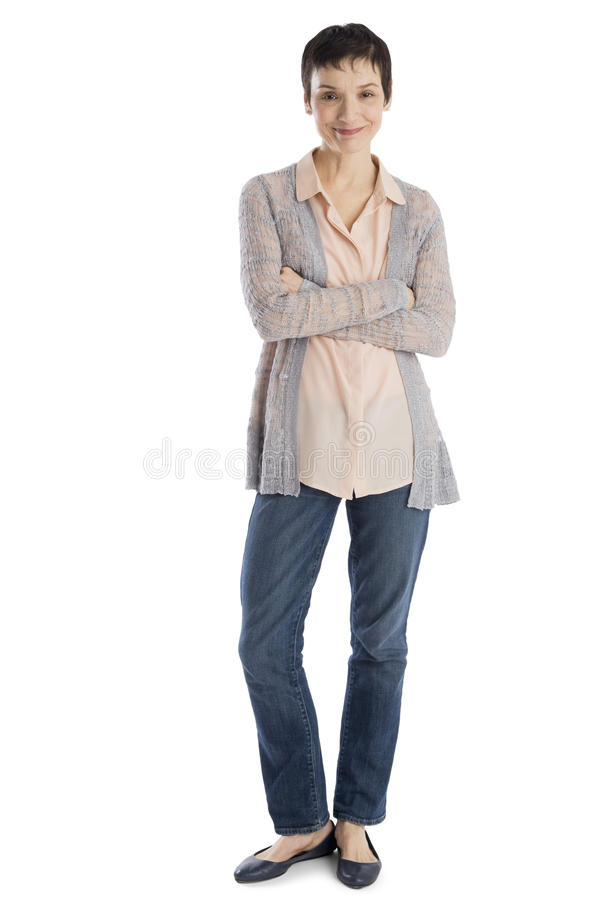 Portrait Of Confident Woman In Smart Casual stock photos