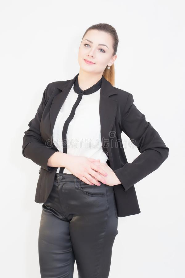 Portrait of a confident young business woman. stock image