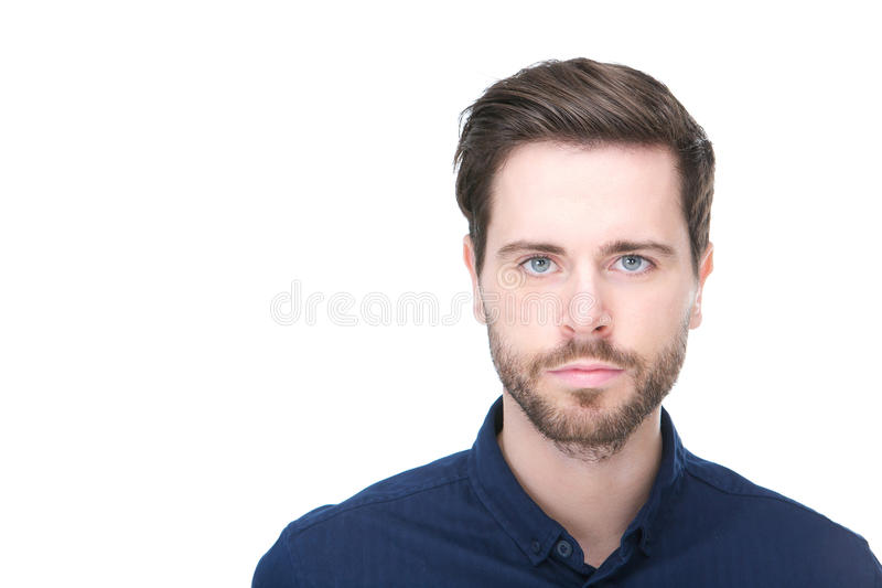 Portrait of a confident young man with beard stock photos