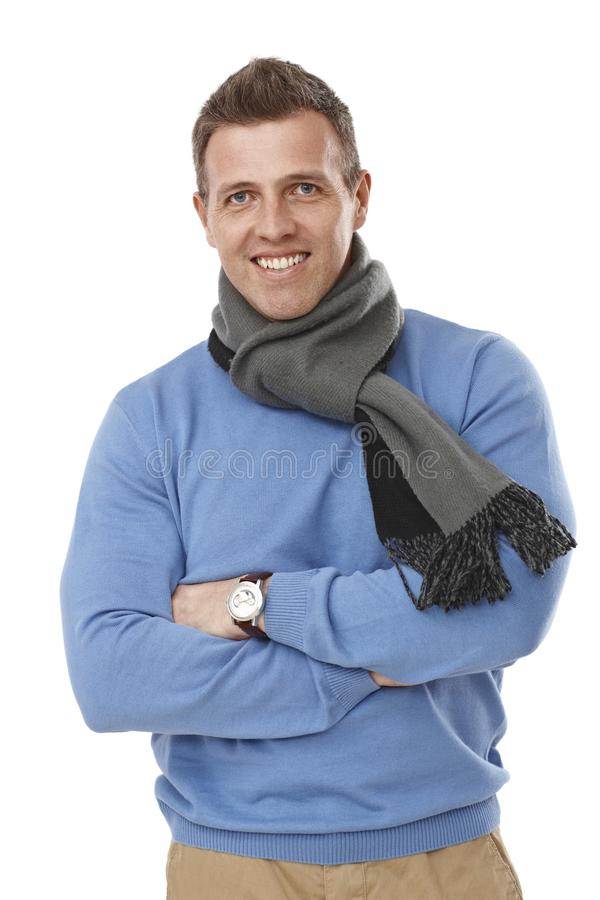 Portrait of confident young man stock photo