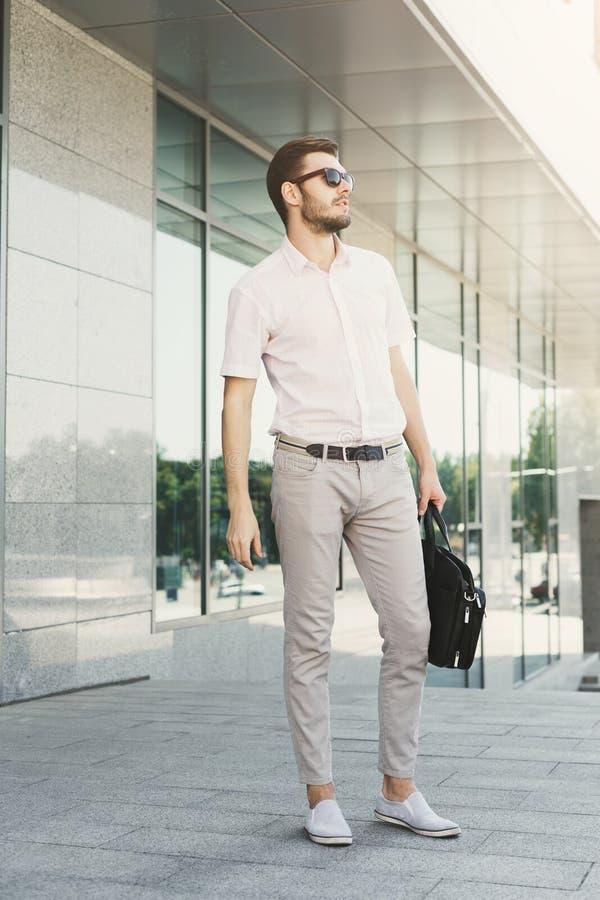 Portrait of confident young stylish businessman stock photos