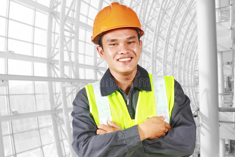 Portrait of construction engineer stock photography