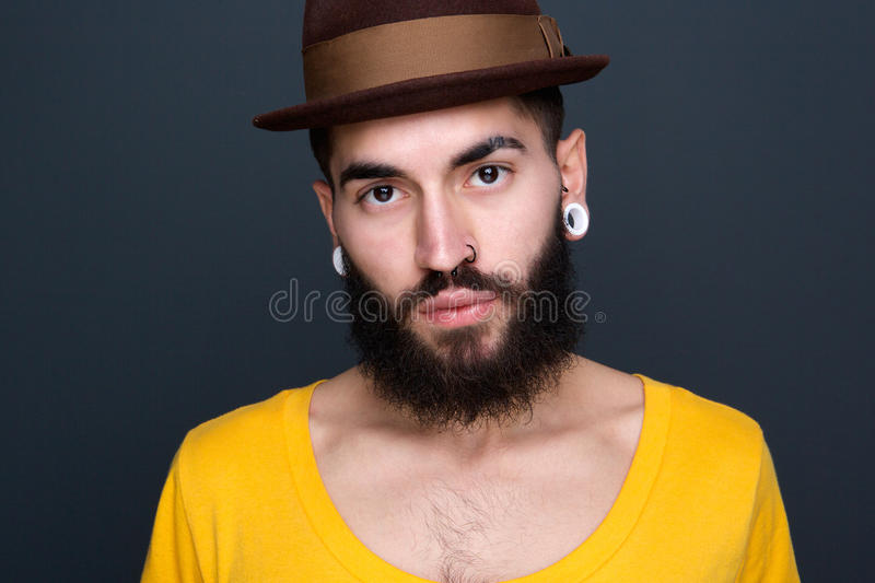 Portrait of a cool young man royalty free stock image