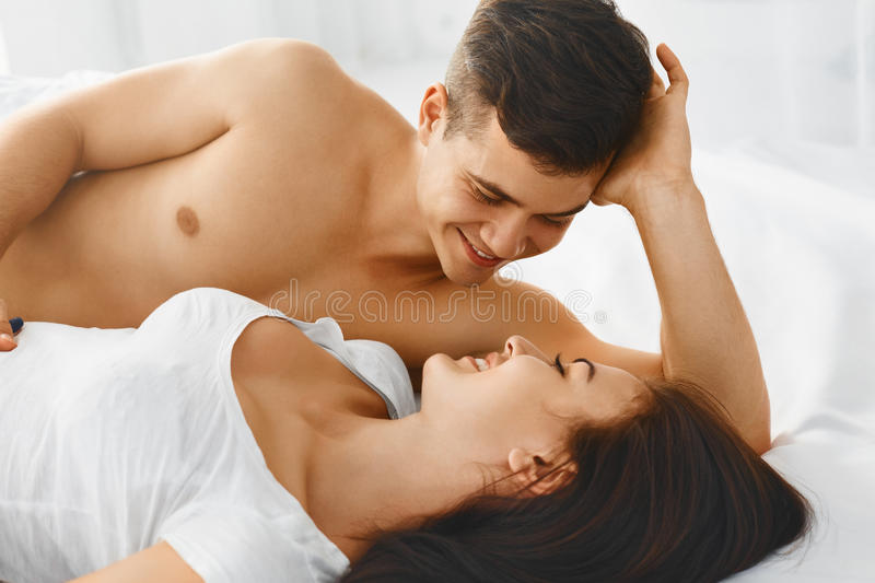 Portrait of couple loving each other. stock images