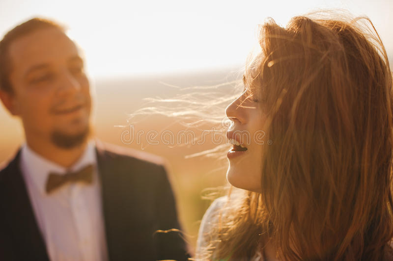 Portrait couples, tenderness love nature stock images