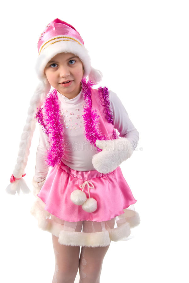 Download Portrait Of Cristmas Little Girl. Stock Photo - Image of hair, smile: 12326838