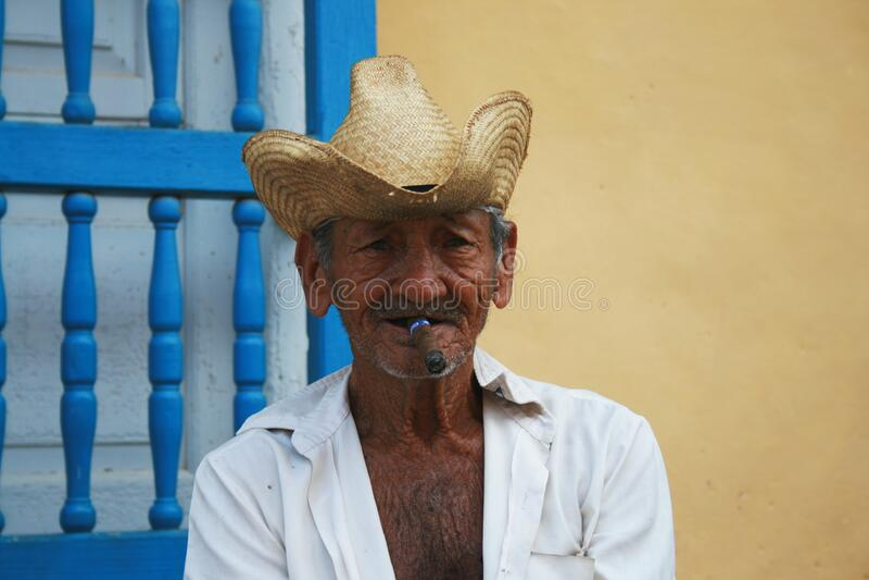 Portrait Of Cuban Man With Cigar Free Public Domain Cc0 Image
