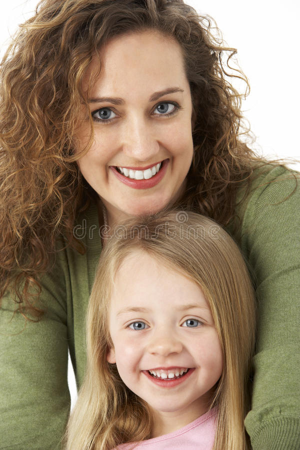 Download Portrait Of Cuddling Mother And Child Stock Image - Image: 9816299
