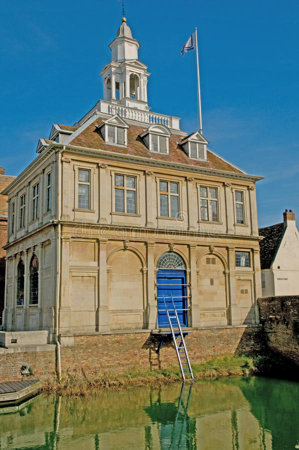 Portrait of the custom house. The custom house on the quayside at kings lynn in norfolk in england royalty free stock photo