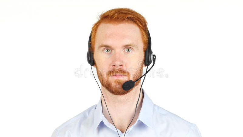 Portrait of customer service representative working stock photos
