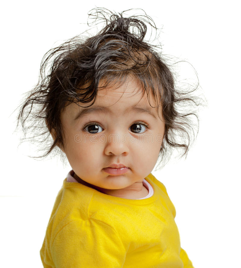Portrait of Cute Baby Girl stock photo