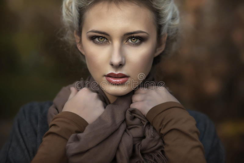 Download Portrait of a cute blondie stock image. Image of fashion - 22835451