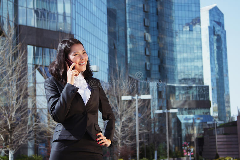 Portrait of a cute business woman royalty free stock photography