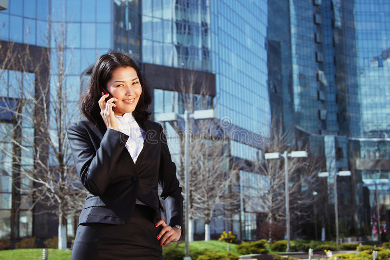 Portrait of a cute business woman stock photos