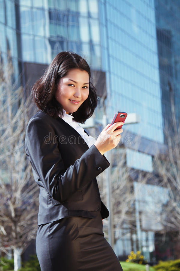 Portrait of a cute business woman royalty free stock photos