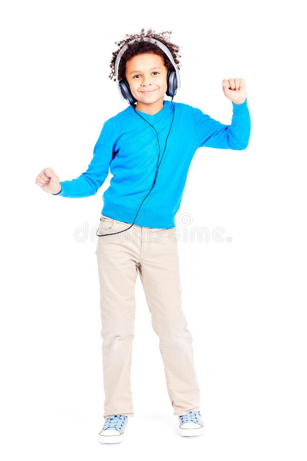 Dancing to music royalty free stock photography