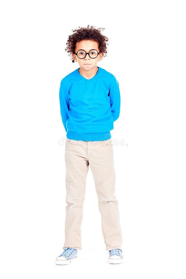 Little nerd royalty free stock photo